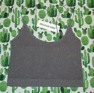 OUT FROM UNDER CINDY SPARKLE SEAMLESS CROP TOP